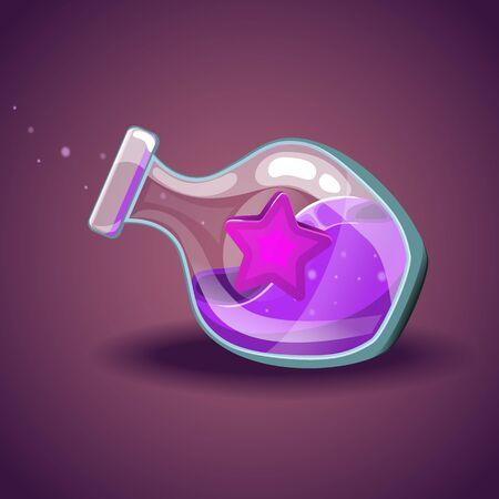 elixir: Bottle with star, magic elixir