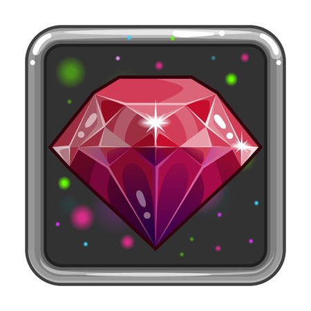 The application icon with gem Illustration