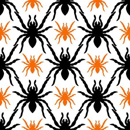 spider web: Pattern with tarantula