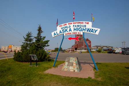 Alaska Highway was constructed during World War II for the purpose of connecting the contiguous United States to Alaska across Canada. Begins in Dawson Creek, BC, and runs to Delta Junction, Alaska.