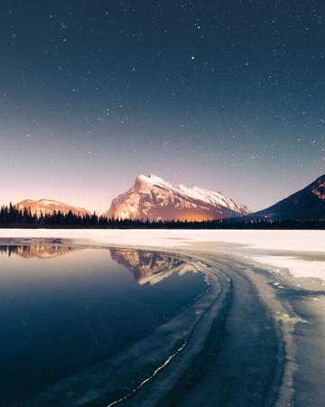 Just outside of the town of Banff, these lakes offer spectacular views of the iconic Mt. Rundle and is a popular place to watch the sunrise and sunset in the all year seasons