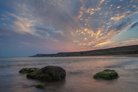 Sunset on the Black Sea coast. Crimea.