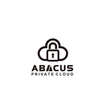 Line Art Black and white logo for cloud Иллюстрация