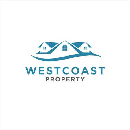 Home swoosh for modern logo property