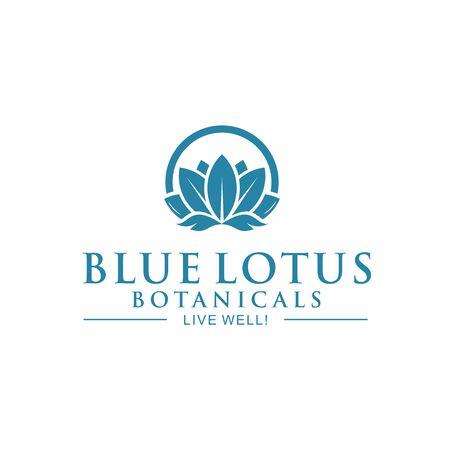 Blue lotus circle Illustration