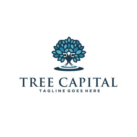 Colorful logo for tree