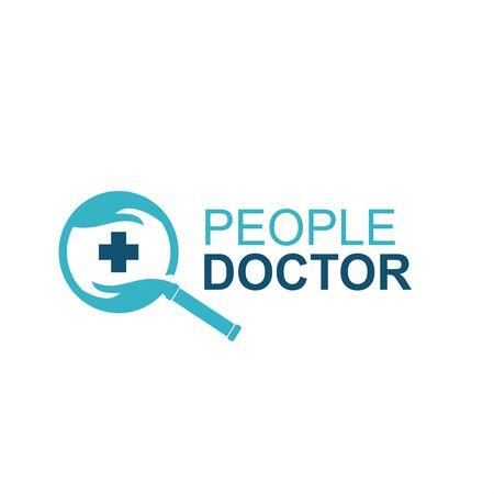 modern logo for research doctor Фото со стока - 130663259