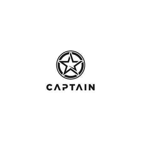 circle star for captain logo