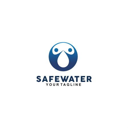 abstract circle logo for safe water