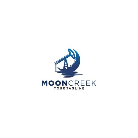 the moon creek logo for oil and gas