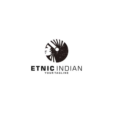 ethnic Indian with Rustic effect Çizim