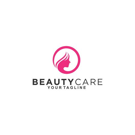 Circle Logo for women beauty and care Çizim