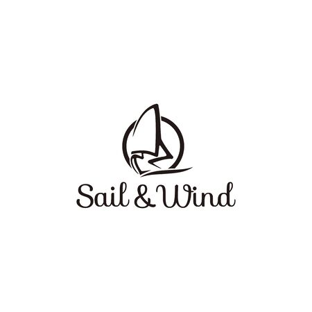 Line art logo for sailing