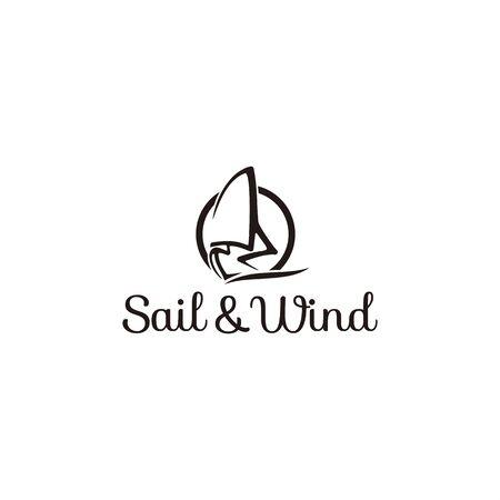 Line art logo for sailing