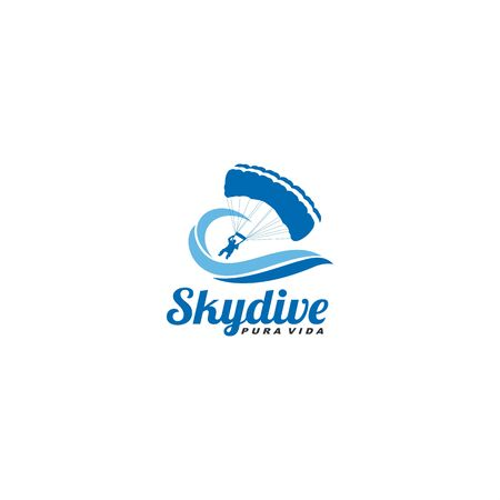 Wave and skydive  イラスト・ベクター素材