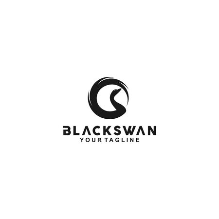 Black and White For Black Swan Logo