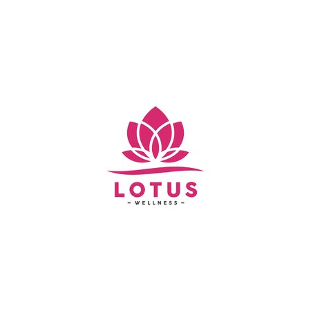 Pink Lotus logo design