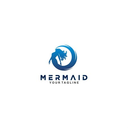 Blue mermaid logo design