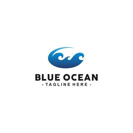 Modern wave for water sport Logo