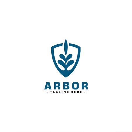 Arbor with Shield Illustration