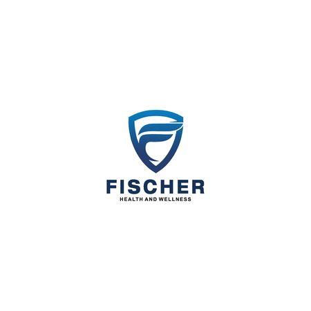 Initial Logo for F Illustration