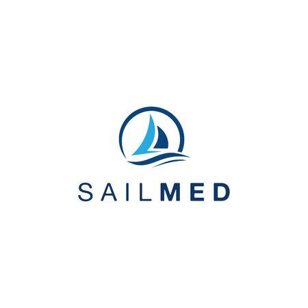 Sail Boat Simple Logo Illustration
