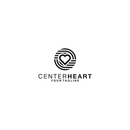 black and white design template for heart