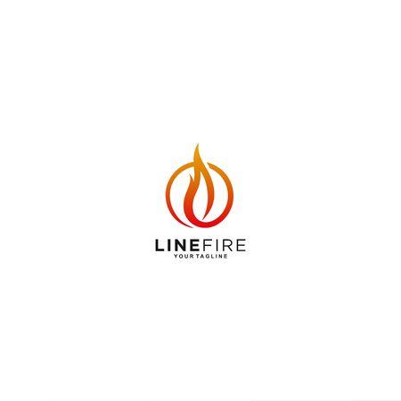 circle fire for modern design Иллюстрация