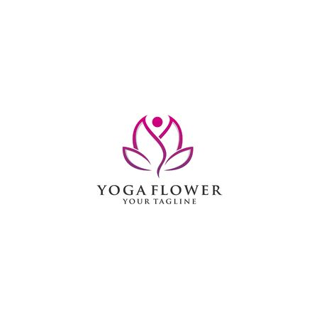 yoga logo template for personal and company  イラスト・ベクター素材