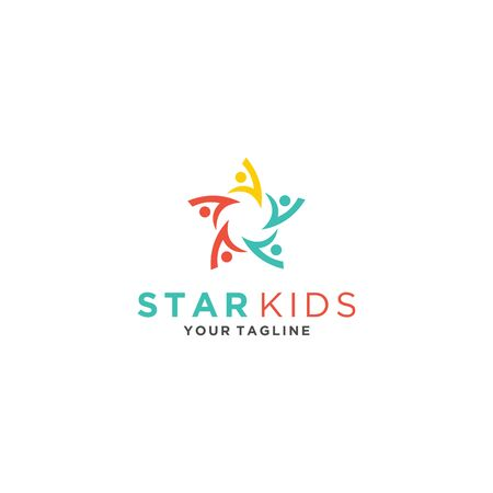 star kids logo template for personal and company Иллюстрация