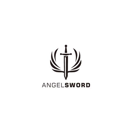 Angel Sword logo template for personal and company