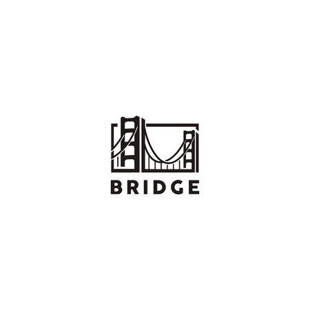 Bridge Black logo template for personal and company