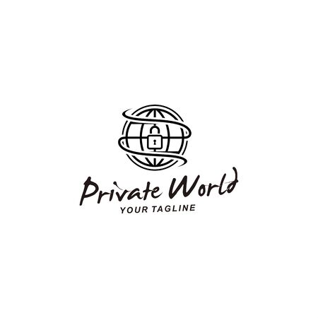 Private World logo template for personal and company