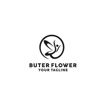 butterfly flower logo template for personal and company