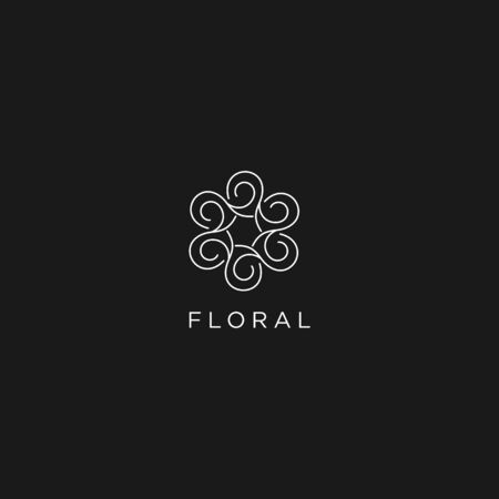 Floral abstract logo template for personal and company