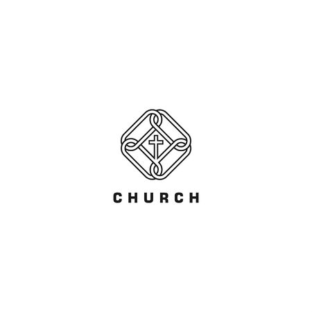 Church Floral for Community logo  イラスト・ベクター素材