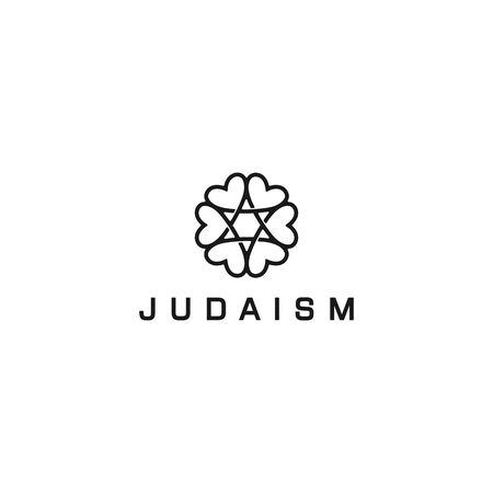 Judaism for community logo design  イラスト・ベクター素材