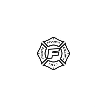 Fire Fighter for personal and company logo  イラスト・ベクター素材