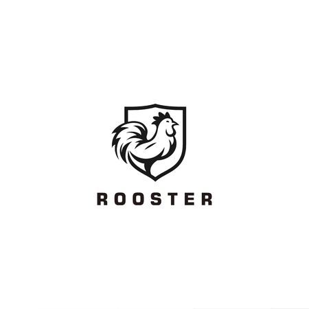 Black Rooster for modern logo  イラスト・ベクター素材