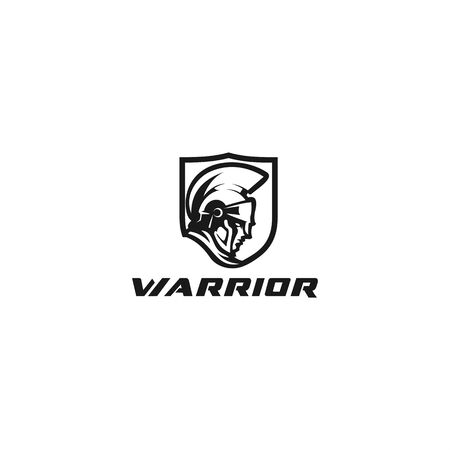 Black warrior design for modern logo