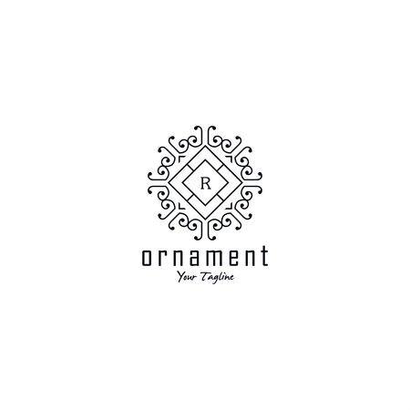 Black and White geometric logo template