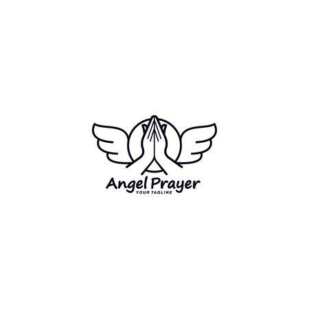 Black and White prayer logo template