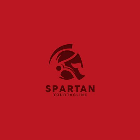 modern  spartan with red background