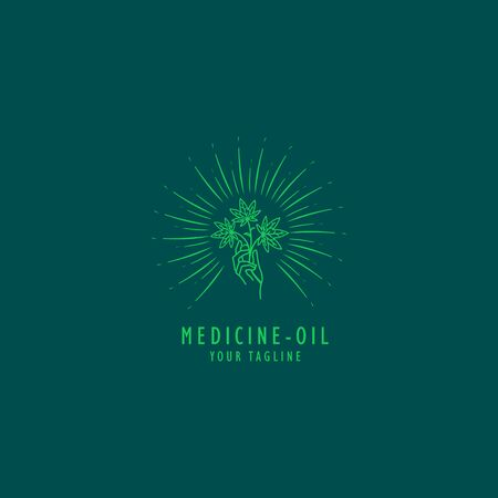 Traditional Cannabis oil  design