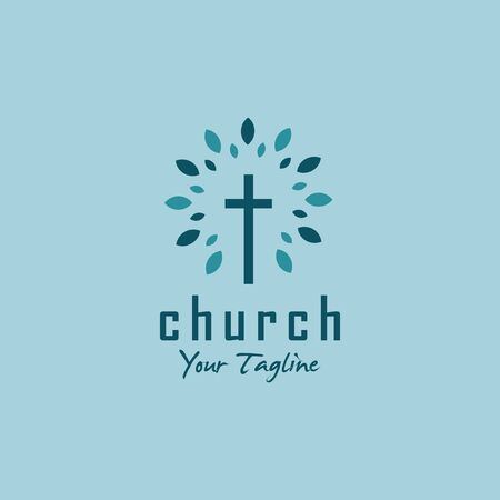 simple modern logo for church  イラスト・ベクター素材