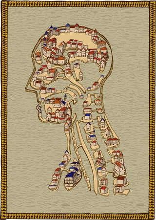Town of human anatomy Vector