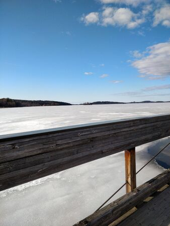 Lake is still on ice but spring is coming
