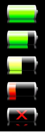 Battery charge indicator   Illustration