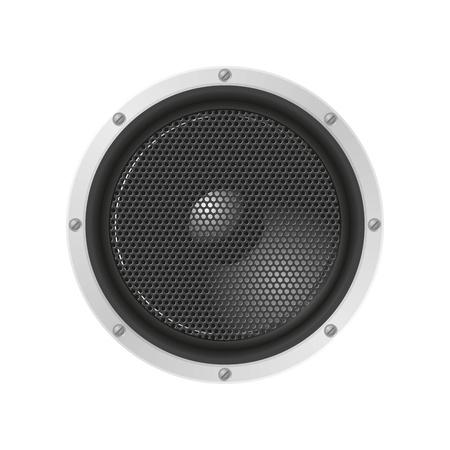 sound system: Altavoz con rejilla del altavoz