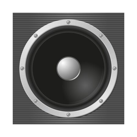 Loudspeaker on stripped background   Vector